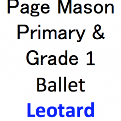 Page Mason School of Dance – Grade 6+ EXAM Sleeveless Ballet Leotard